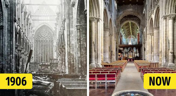 """Đây là một trong số ít các nhà thờ, tu viện vẫn còn tồn tại từ thời Trung cổ ở Anh và được xem là một địa danh có giá trị lịch sử to lớn. Được biết trước đó vào năm 1906, tu viện này gần như biến mất hoàn toàn bởi một đám cháy bùng phát mạnh. Mái nhà của dàn hợp xướng và tất cả các đồ đạc bên trong bị phá hủy hoàn toàn. Chỉ sau 3 năm phục hồi, Selby được mở cửa trở lại vào năm 1909, nhưng mãi đến năm 1912 việc """"hồi sinh"""" tu viện mới chính thức hoàn thành."""