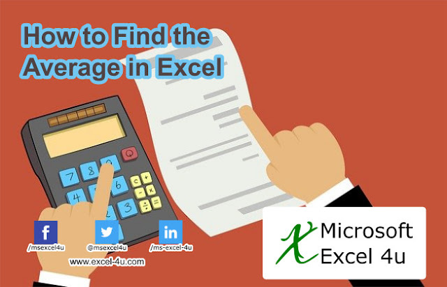 How to Find the Average in Excel