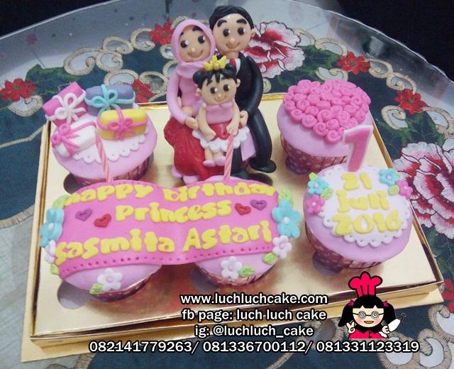 Cupcake Ulang Tahun Putri 1 Tahun