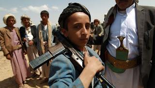 30.000 Anak Dibawah Umur Direkrut Menjadi Tentara Milisi Syi'ah Houthi