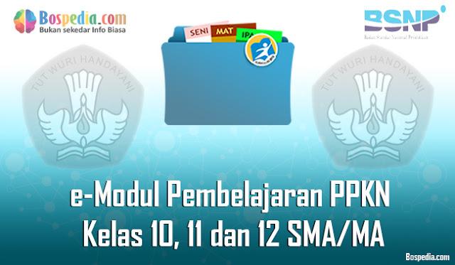e-Modul Pembelajaran PPKN (Pendidikan Pancasila dan Kewarganegaraan) Kelas 10, 11 dan 12 SMA/MA