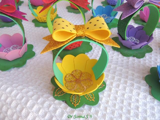 Cards ,Crafts ,Kids Projects: Foam Flower Basket Tutorial