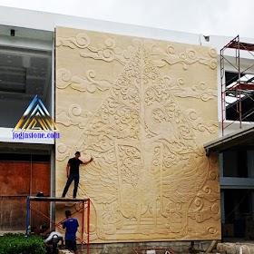 Ukiran relief kayon tempel dinding ukuran besar