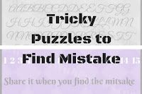 Tricky and cool brain teasers of finding mistakes in given pictures
