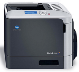 Print, copy, scan and fax with speeds up to 31 ppm using Konica Minolta bizhub C35P . This color laser multifunction printer has a compact footprint