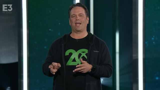 Phil Spencer 20 years Xbox anniversary shirt E3 2021