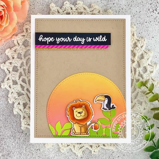 Sunny Studio Stamps: Savanna Safari Everyday Card by Angelica Conrad