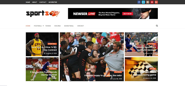 SportsMag Responsive Premium Blogger Template
