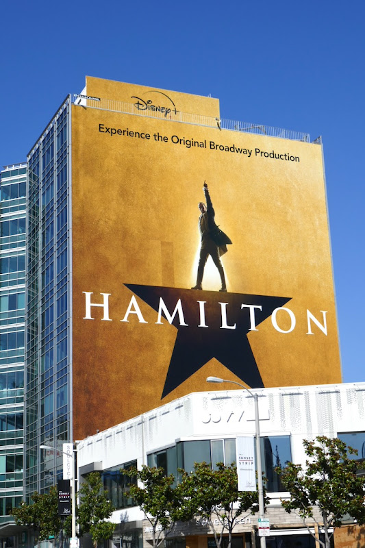 Hamilton Disney plus billboard
