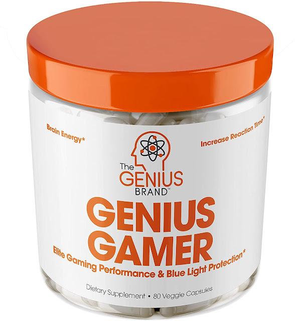 Genius Gamer Elite Gaming Nootropic  Focus & Brain Booster Supplement