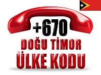 +670 Doğu Timor ülke telefon kodu