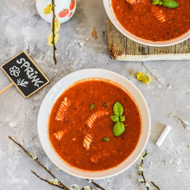 Zupa z pieczonej papryki i pomidorów | Zero waste |
