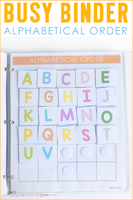 Alphabetical Order Busy Binder
