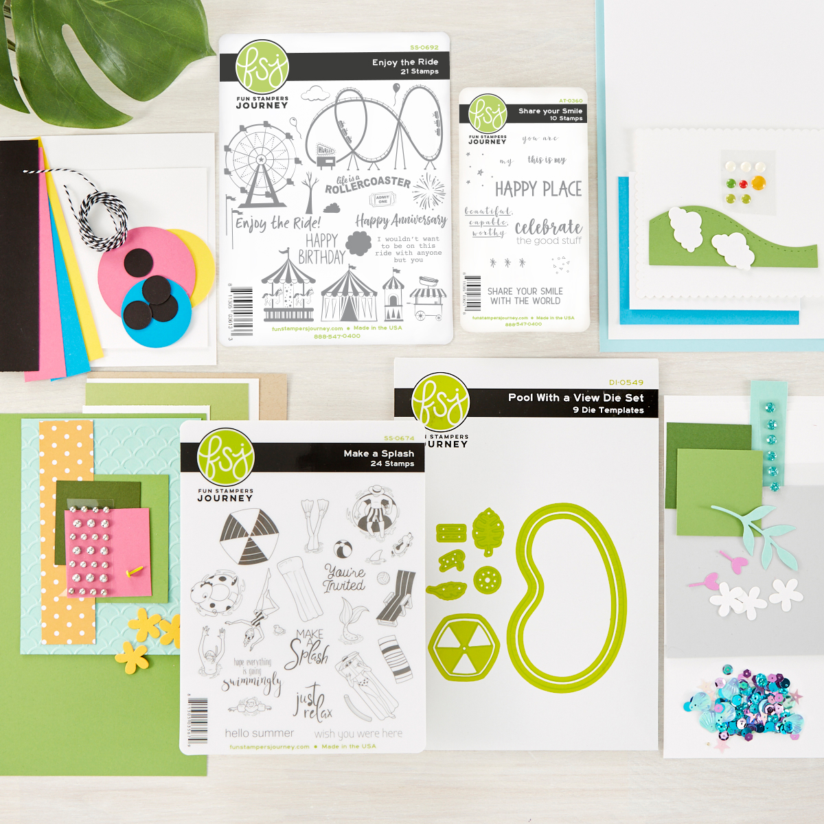 Happy Place Project Kit from FSJ for festive summer cards