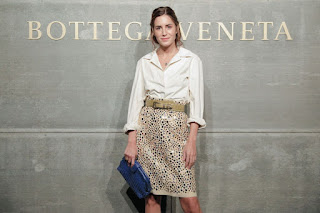 Gala Gonzalez At Bottega Veneta Show At New York Fashion Week