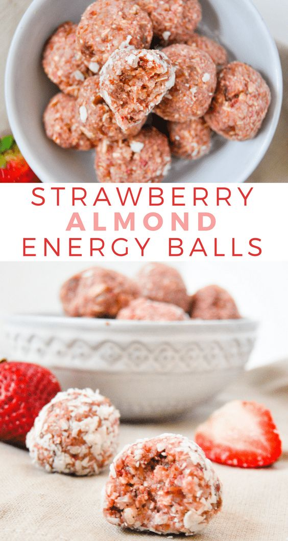 NO BAKE STRAWBERRY ALMOND ENERGY BALLS #recipes #healthyideas #healthyrecipes #snackideas #healthysnackideas #food #foodporn #healthy #yummy #instafood #foodie #delicious #dinner #breakfast #dessert #yum #lunch #vegan #cake #eatclean #homemade #diet #healthyfood #cleaneating #foodstagram