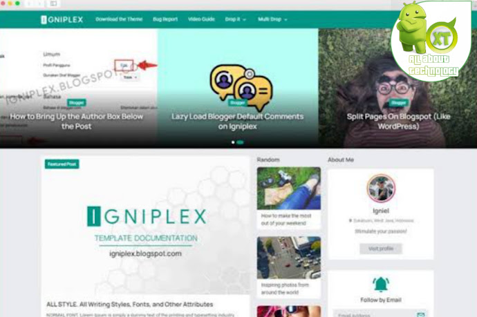 Igniplex v2.6 Blogger Premium Template  Download With License ( unlimited domain)