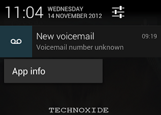 how to clear voicemail notification icon in android