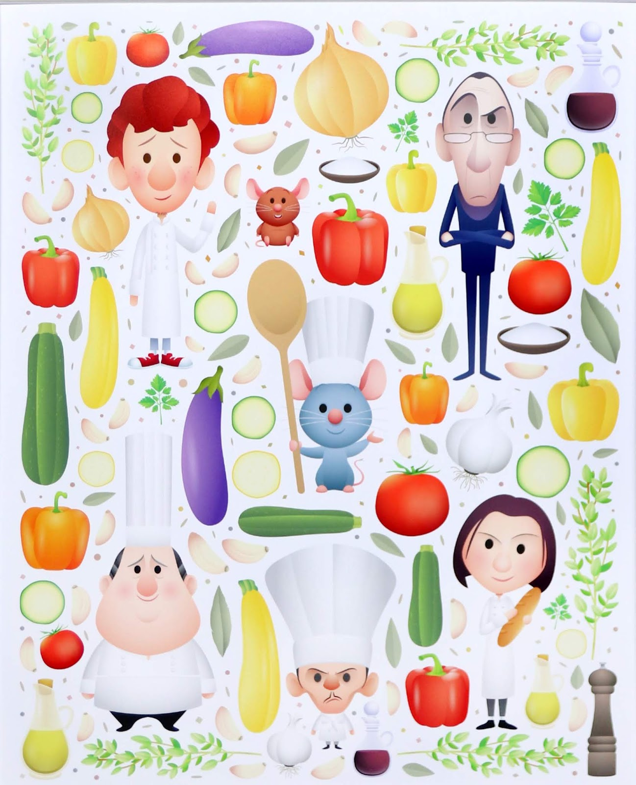 "Ratatouille ""Remy's Recipe"" Art by Jerrod Maruyama Deluxe Print"