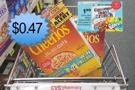 cheap cereal at cvs thios week