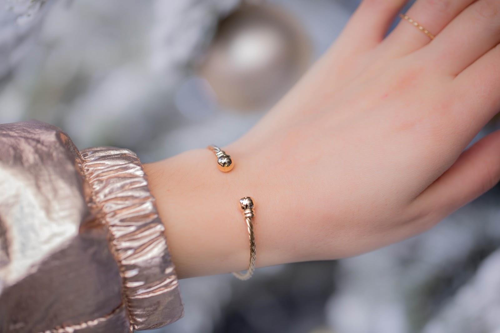 bracelet plaqué or épicerie fille