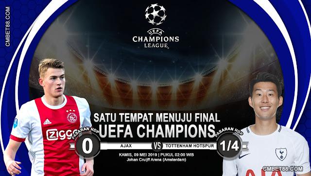 Prediksi Bola Ajax VS Tottenham Hotspur