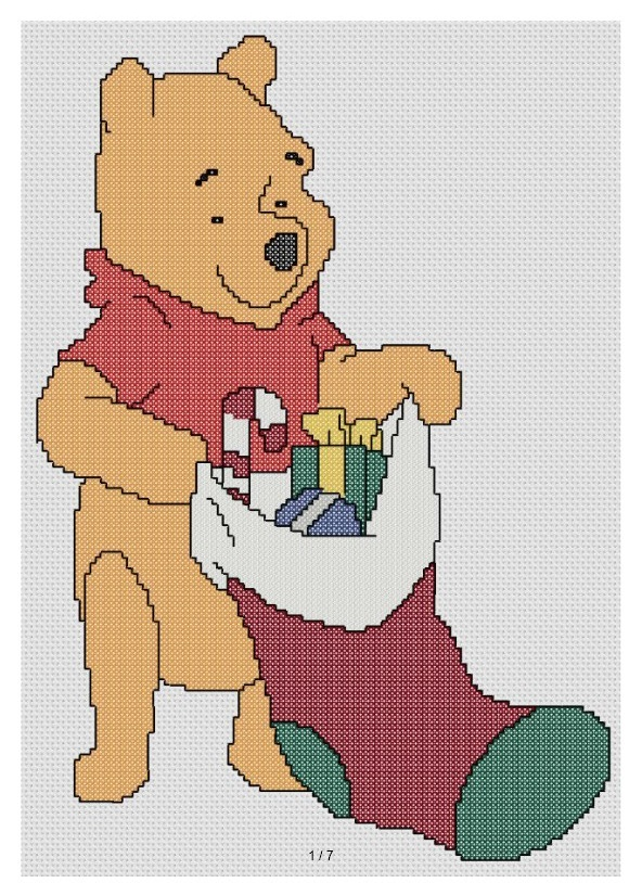 Disney Cross Stitch Christmas Stocking Patterns.Free Christmas Cross Stitch And Crafts September 2012