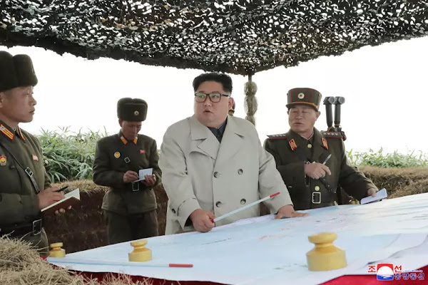 Kim Jong Un at Changrin Islet defence detachment