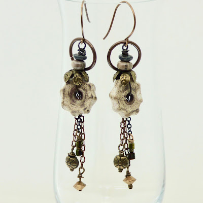 Casual Beige Earrings by BayMoonDesign