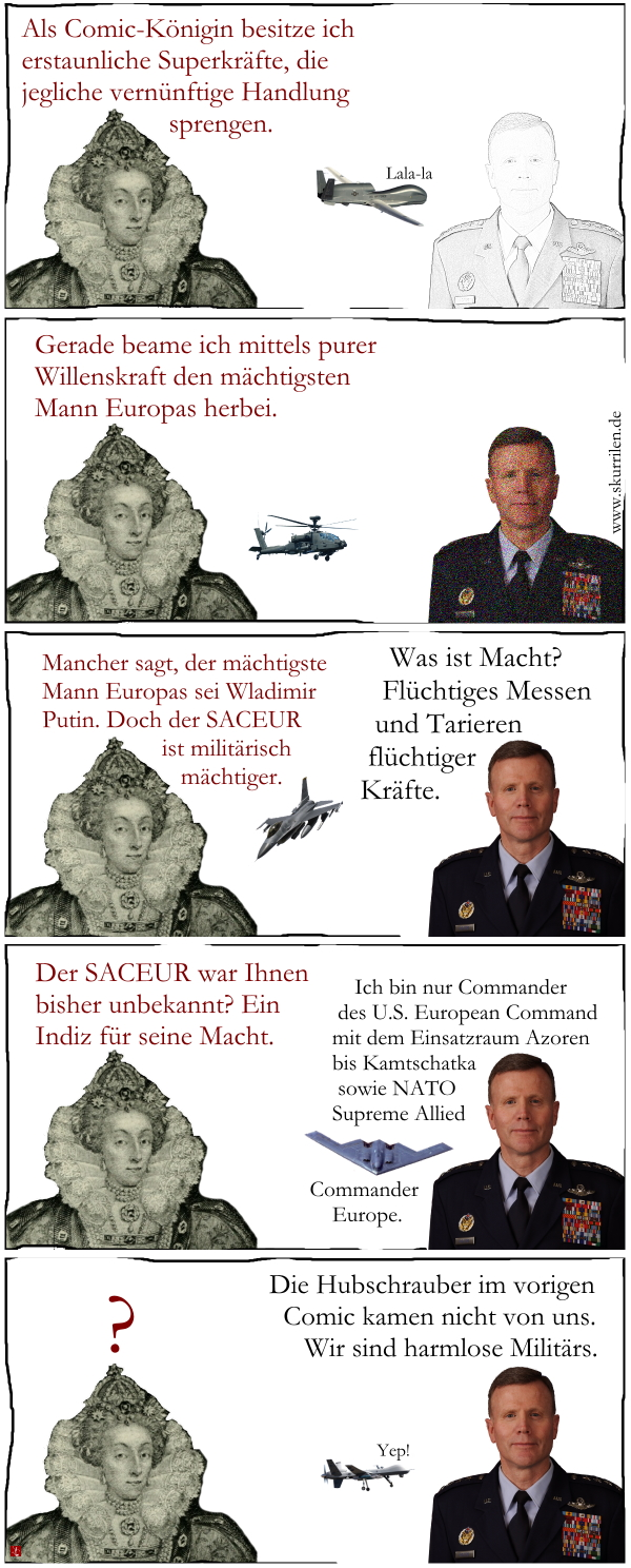 SACEUR, mächtige USA, machtloses Europa, US European Command, NATO, Militär, General, Satire, Comic, Collage