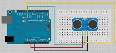Program Sensor Jarak Ultrasonik HC-SR04 Dengan Arduino