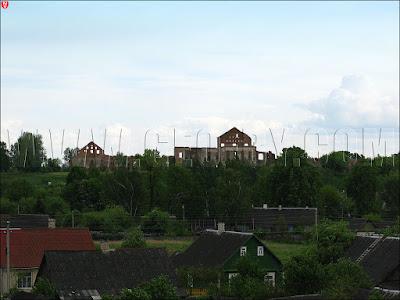 Пружаны. Вид на замок Сапег
