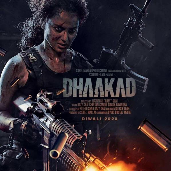 full cast and crew of Bollywood movie Dhaakad 2020 wiki, movie story, release date, Dhaakad Actor name poster, trailer, Video, News, Photos, Wallpaper, Wikipedia