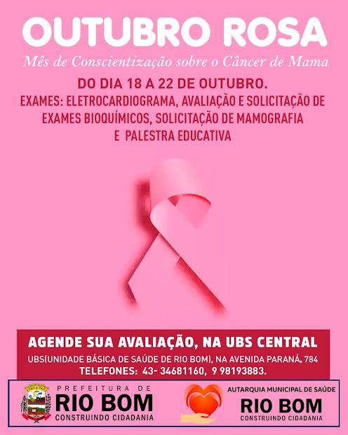 RIO BOM - Campanha do Outubro Rosa