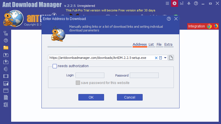 Ant Download Manager 2.2.5 Build 78027