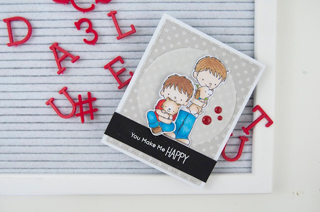 MFT stamps: brothers stamped card by Jen Gallacher for www.jengallacher.com #stamping #mftstamps #jengallacher #copic