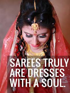 caption for saree girl