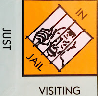 The Jail square from Monopoly: some are in jail, some are visiting.