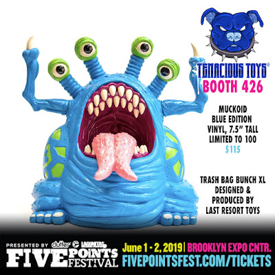 Five Points Festival 2019 Exclusive Blue Muckoid Vinyl Figure by Last Resort Toys x Tenacious Toys