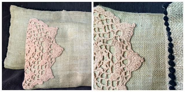 almohadon con doily a crochet