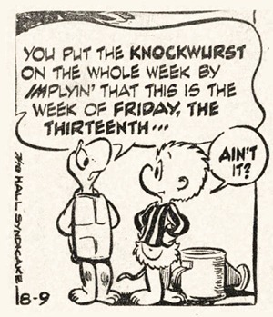 Pogo: Churchy La Femme Has a Thing About Friday the Thirteenth.