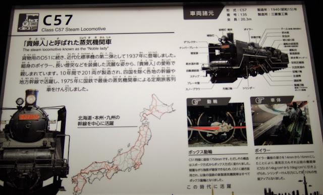 蒸気機関車「貴婦人」の説明板