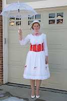 Mary Poppins White Dress Using Simplicity 2813 from Jengerbread