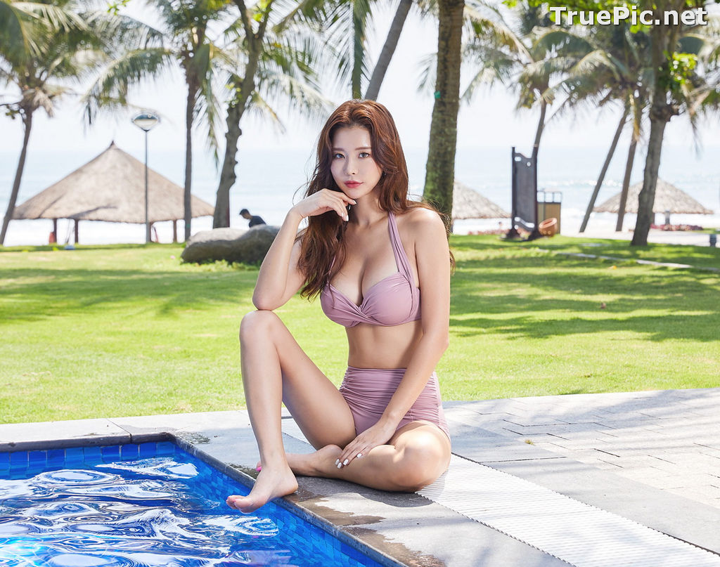 Image Park Da Hyun - Korean Fashion Model - Rose Mellow Pale Pink Bikini - TruePic.net - Picture-2