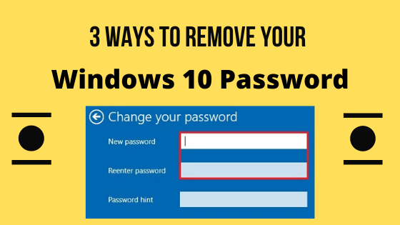how to remove the password in windows 10