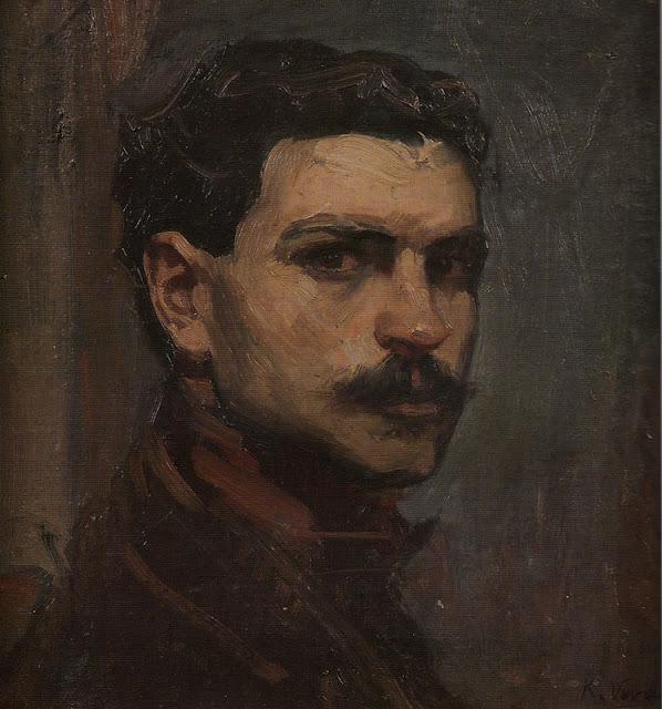 Ricardo Verde Rubio, Self Portrait, Portraits of Painters, Ricardo Verde, Fine arts, Portraits of painters blog, Paintings of Ricardo Verde, Painter Ricardo Verde