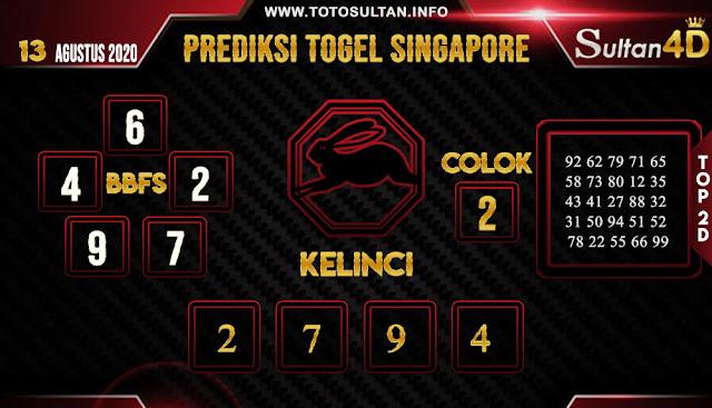 PREDIKSI TOGEL SINGAPORE SULTAN4D 13 AGUSTUS 2020