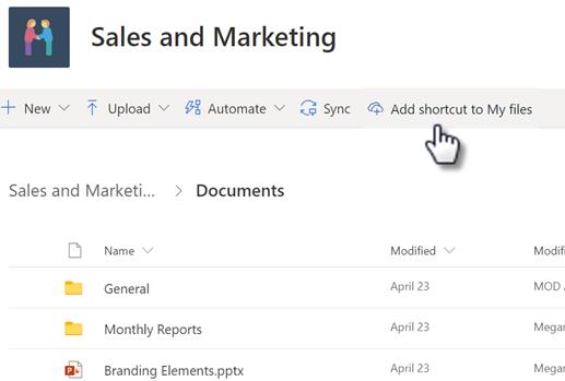 سيسمح OneDrive إضافة اختصارات إلى المجلدات المشتركة
