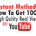 Buy 1000 YouTube Views For $1 [100% Money Back Guaranteed]