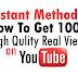 Buy 1000 YouTube Views For $1 [100% Money Back Guaranteed]